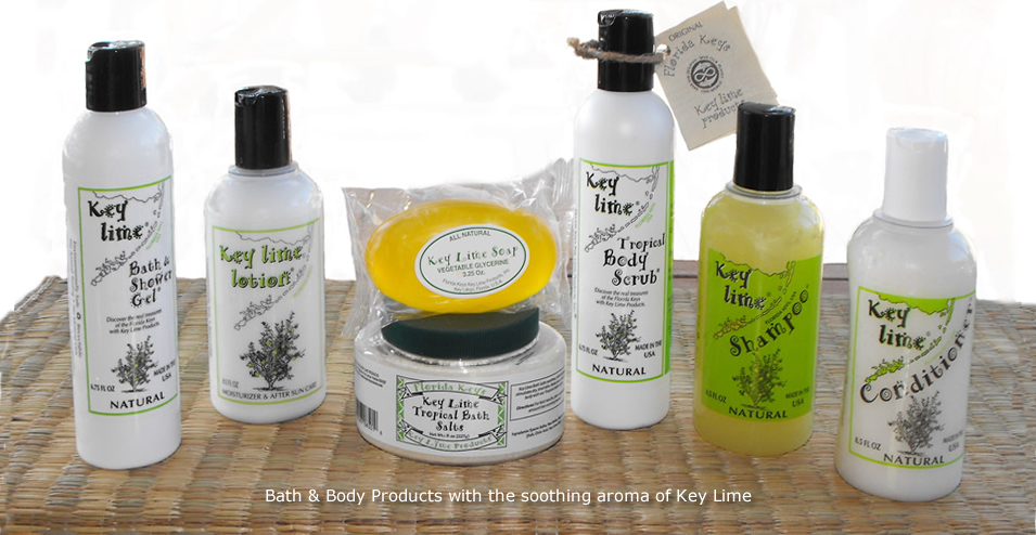 Key Lime Bath, Body and Beauty Products - aromatic and soothing customer favorites
